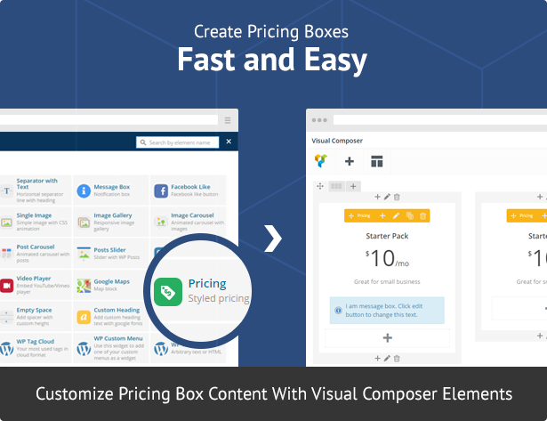 Pricing Boxes for Visual Composer 1